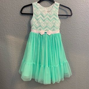 Jona Michelle teal kids 6 special occasion dress